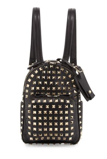 Valentino  Rockstud Mini Backpack, Black @ Neiman Marcus