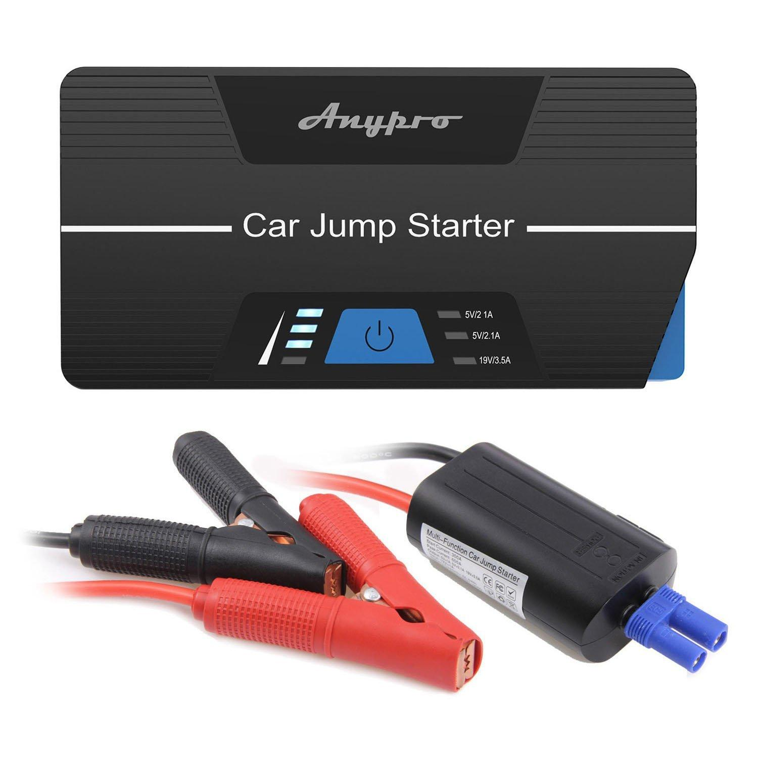 $75.99 Anypro the Safest Car Jump Starter 600A Peak 15000mAh Car Jumper with Smart Clips
