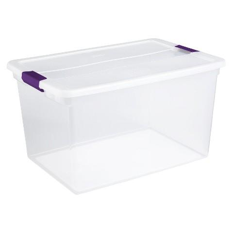 Sterilite® ClearView Latch™ 66 Qt Storage Tote