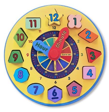 Melissa & Doug Wooden Shape Sorting Clock @ Amazon