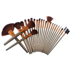 Brushes, PeleusTech® 24pcs Makeup Cosmetics Professional Brush Set Kit Facial Brush Kit Set-Golden