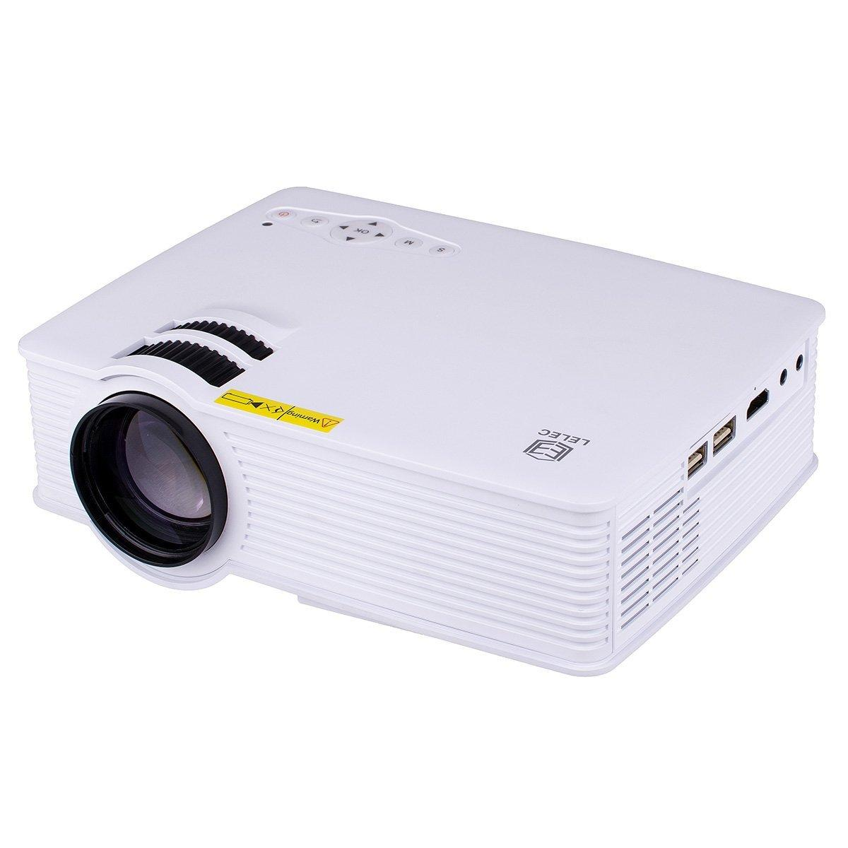 $79.19 LELEC Ultralight Portable HiFi Stereo HD Image LED Projector
