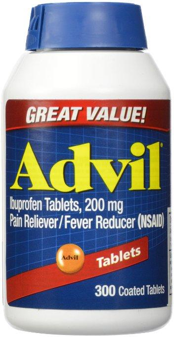Advil Tablets ( Ibuprofen ), 200 mg, 300 Coated Tablets