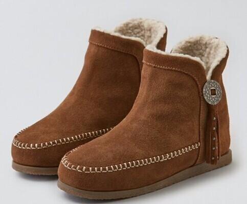 AEO BUTTON MOCCASIN BOOTIE @ American Eagle
