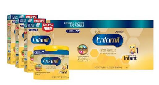 $41.1 Enfamil Infant Baby Formula - 121.8oz Powder Combo Pack @ Amazon