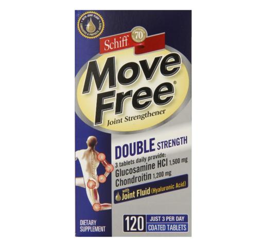 $14.99 Move Free Double Strength Glucosamine Chondroitin and Hyaluronic Acid Joint Supplement, 120 Count