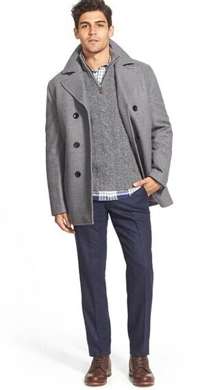 Michael Kors Wool Blend Double Breasted Peacoat @ Nordstrom