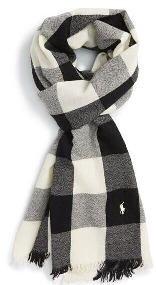 Polo Ralph Lauren Buffalo Check Wool Scarf @ Nordstrom