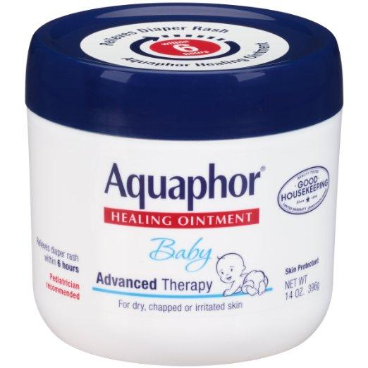 $12.80 Aquaphor Baby Healing Ointment, Diaper Rash and Dry Skin Protectant, 14 Ounce