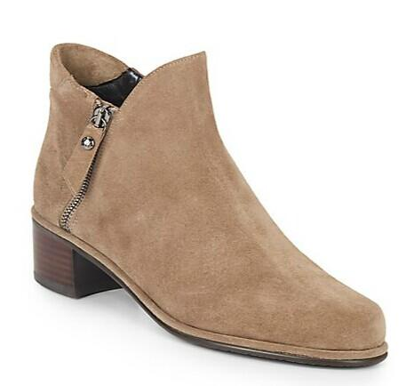 Stuart Weitzman Suede Zip Booties @ Saks Off 5th
