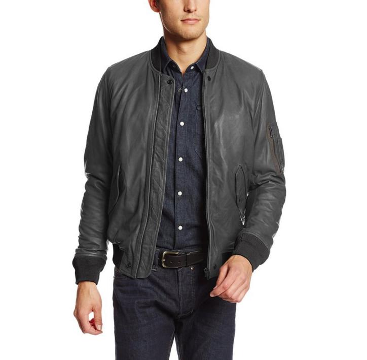 Diesel Men's L-Devra Leather Jacket, Large