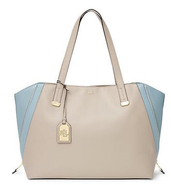 GUILFORD LEATHER TOTE @ Ralph Lauren