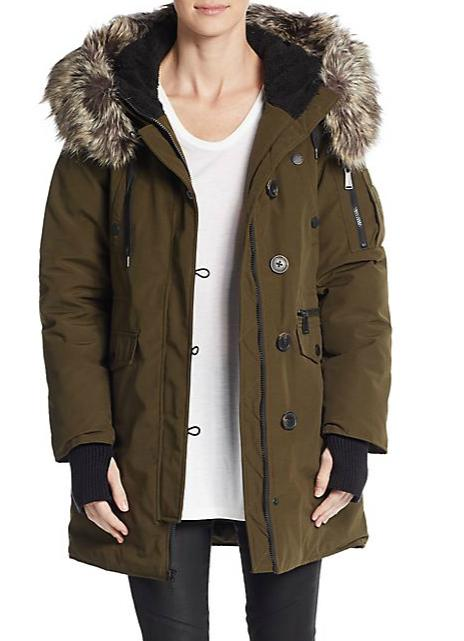 BCBGeneration Winter Faux Fur-Trimmed Parka