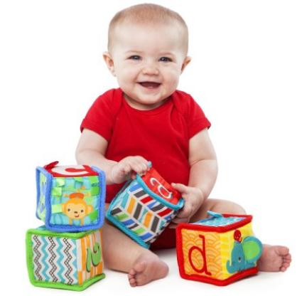 Bright Starts Grab and Stack Block Toy @ Amazon