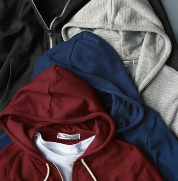 Threads for Thought Waffle Knit Thermal Zip Hoodie @ Nordstrom