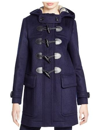 $676.6+$150GC Burberry Brit Finsdale Wool Duffle Coat