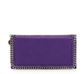 Stella McCartney  Falabella Chain Flap Wallet, Bright Purple @ Neiman Marcus