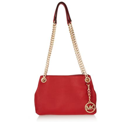 MICHAEL MICHAEL KORS Jet Set Messenger medium textured-leather shoulder bag @ The Outnet