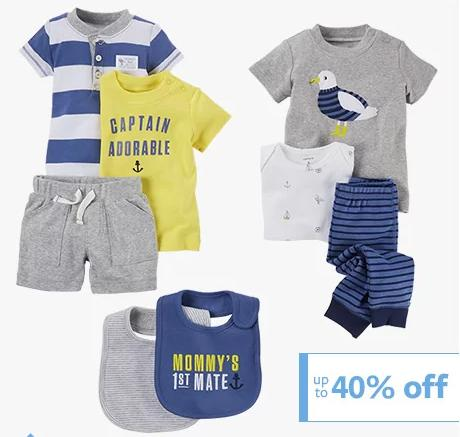 Up to 40% Off + Extra Up to 20% Off Baby Essentials & Gifts @ Carter's