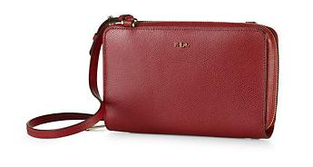 WHITBY LEATHER CROSS-BODY BAG @ Ralph Lauren