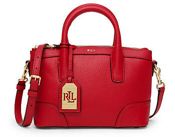 FAIRFIELD LEATHER MINI SATCHEL @ Ralph Lauren