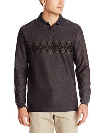 From $4.78 Haggar Men's Long Sleeve Double Jacquard Knit Shirt