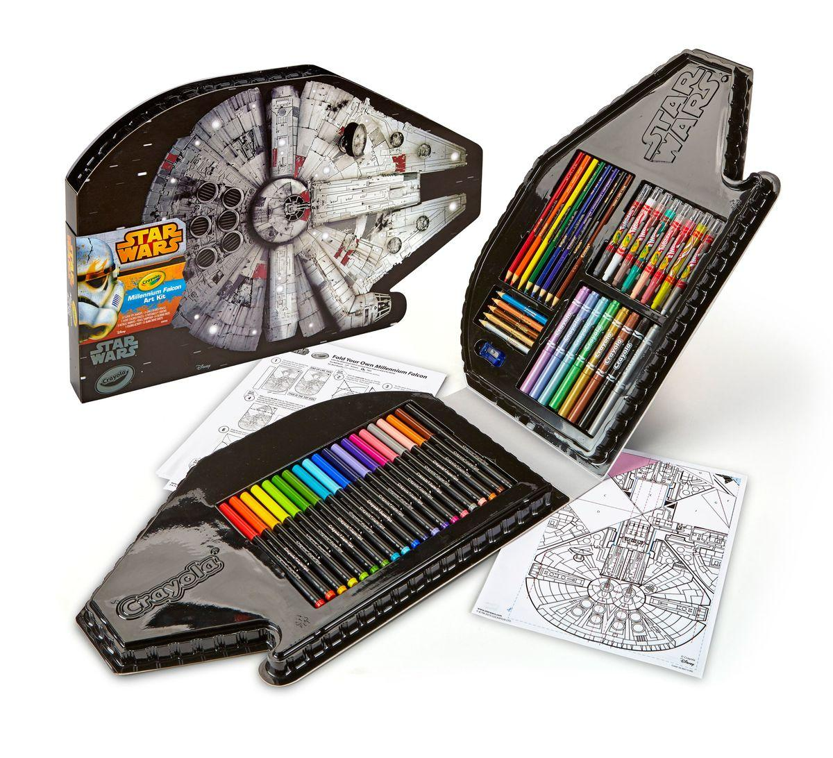 $10.5 Crayola 04-6847 Millennium Falcon Art Case Toy