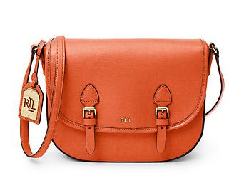 Tate Leather Messenger Bag @ Ralph Lauren