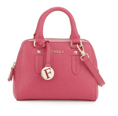 Furla  Elena Mini Leather Satchel, Gloss