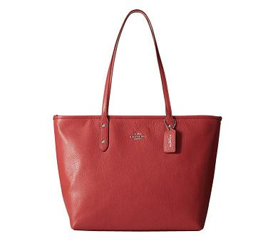 COACH City Zip Tote in Chicago Pebble Leather
