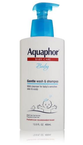 Aquaphor Baby Gentle Wash & Tear Free Shampoo, Fragrance Free Mild Cleanser, 13.5 Ounce