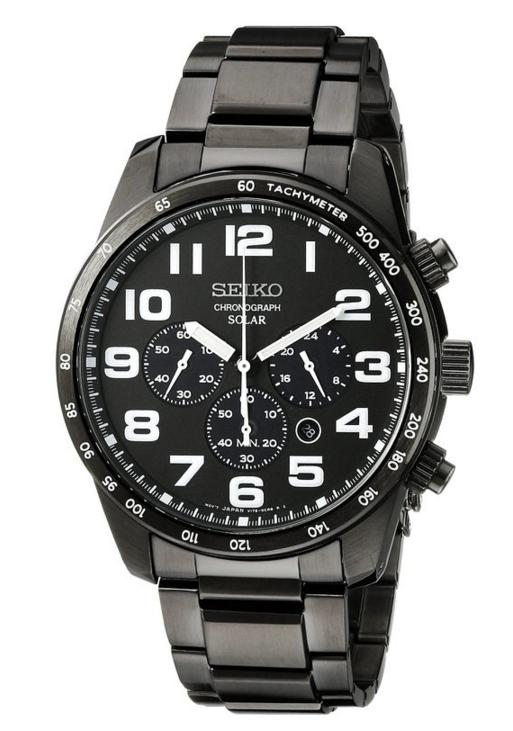 Seiko Men's SSC231 Sport Solar Stainless Steel Watch