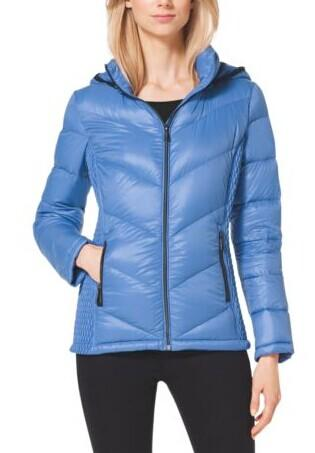 Hooded Quilted Nylon Jacket @ Michael Kors