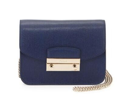 Furla  Julia Mini Leather Crossbody Bag, Navy @ LastCall by Neiman Marcus
