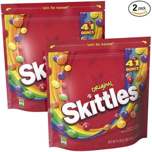 $9.66 Skittles Original Candy  41-Ounce Bags (Pack of 2)