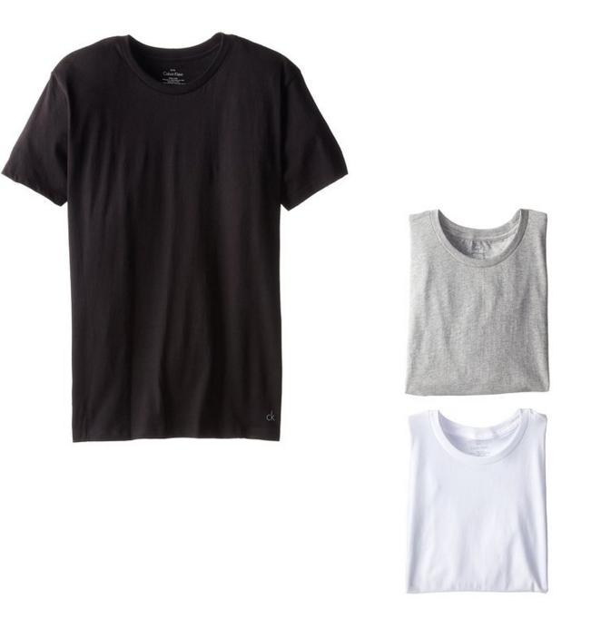 $22.90 Calvin Klein Men's 3 Pack Cotton Classics Short Sleeve Crew Neck T-Shirt