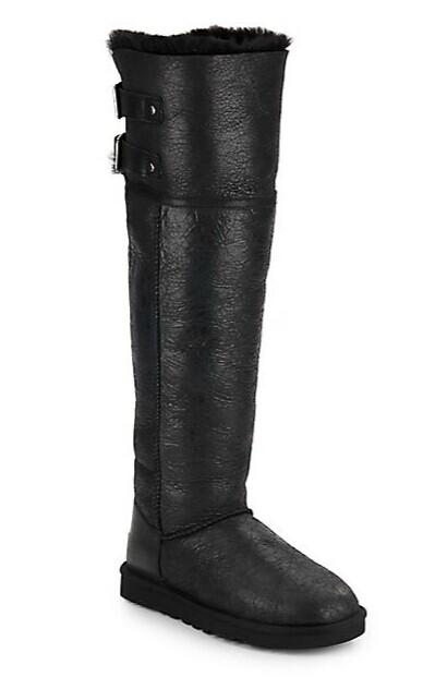 UGG Australia Devandra Convertible Shearling-Lined Leather Over-The-Knee Boots @ Saks Off 5th