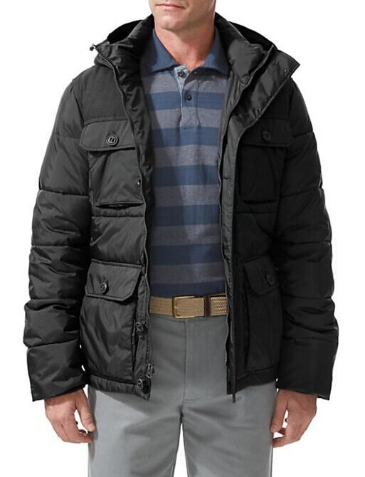 HOODED PUFFER JACKET @ Dockers