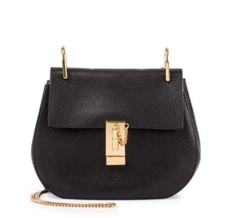 Chloe  Drew Nano Leather Saddle Bag, Black @ Bergdorf Goodman