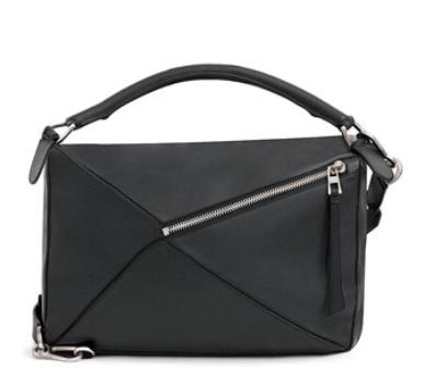 Loewe Large Leather Puzzle Bag, Black @ Bergdorf Goodman