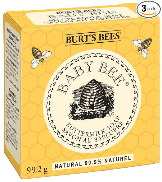 Burt's Bees Baby Bee Buttermilk Soap, 3.5-Ounce Packages (Pack of 3)