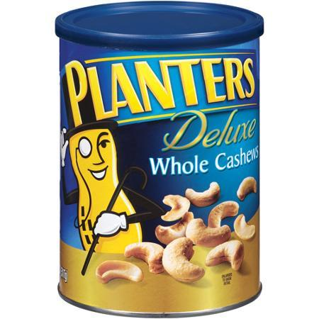 $5.69 Planters Deluxe Whole Cashews Canister, Lightly Salted, 18.25 Ounce