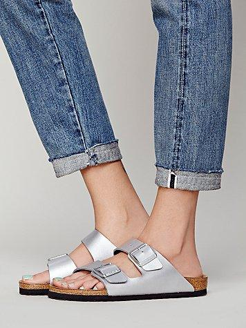 $55.9 Birkenstock Women's Arizona Metallic Mules