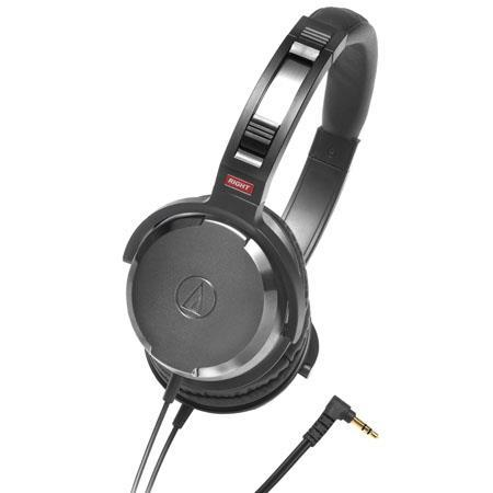 Audio-Technica ATH-WS50BK Solid Bass System Over-Ear Headphones