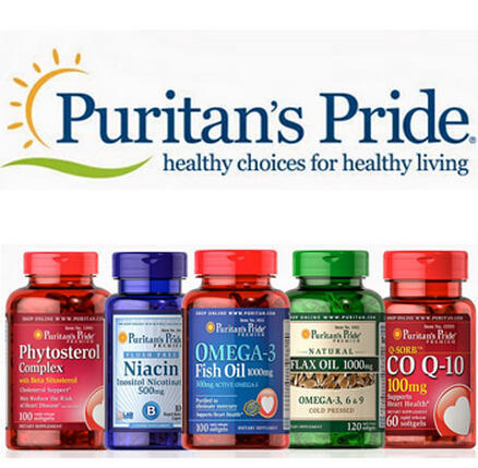 20% Off + $10 e-Rebate on Puritan's Pride Brand @ Puritan's Pride