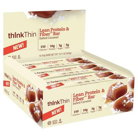 $6.08 thinkThin Salted Caramel Lean Protein Bars (4 Ct) + $5 Target Gift Card