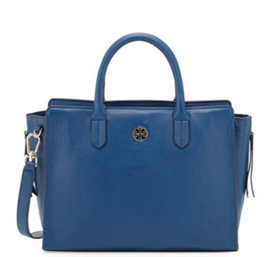 Tory Burch Brody Small Leather Tote Bag, Tidal Wave @ Neiman Marcus