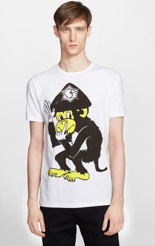 Paul Smith Jeans 'Nose Picking Monkey' Graphic T-Shirt On Sale @ Nordstrom