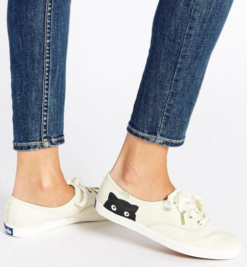 Keds Champion Taylor Swift Cat Cream Women's Sneaker On Sale @ 6PM.com