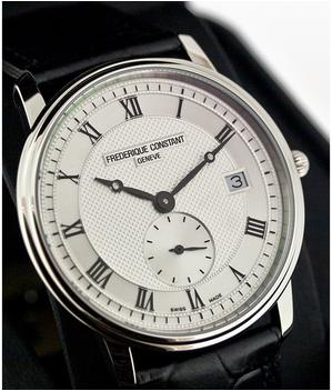 Frederique Constant Classics Silver Dial Black Leather Men's Watch 245M5S6